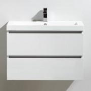 Thalassor Meuble de salle de bain 80 cm CITY Finition blanc laqué
