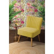 My-Furniture Chaise rétro Lola Oyster - Jaune moutarde