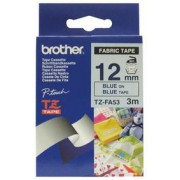 Brother 12MM BLUE ON BLUE FABRIC TZ TAPE