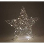 Technica Drahtstern mit Perlen mit 40 warmweißen LEDs, Durchmesser 58 cm