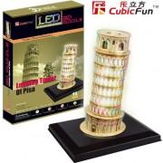 Puzzle 3D Cubicfun Turnul din Pisa, 15 piese