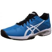 Asics Men's Gel-Solution Speed 3 Blue Jewel, White and Black Tennis Shoes - 7 UK/India (41.5 EU)(8 US)