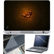 Finearts Laptop Skin 15.6 Inch With Key Guard & Screen Protector - Repubic Of Gamers Fire