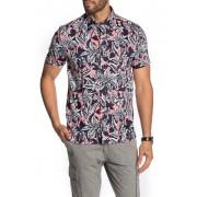 Ted Baker London Floral Short Sleeve Slim Fit Hawaiian Shirt CORAL