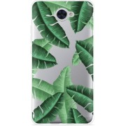 Huawei Y7 2017 Hoesje Palm Leaves