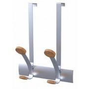 Ruhafogas, ajtóra helyezhető, fém, 2db akasztóval, ALBA, ezüst (BAF24)
