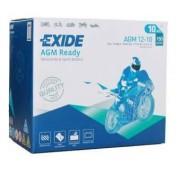Exide AGM12-10 motorkerékpár akkumulátor 12V 10Ah 150A JOBB+ (+AJÁNDÉK!)