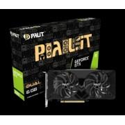 Placa video Palit GeForce GTX1660 DUAL, 6GB GDDR5, Memory Clock 8 Gbps, Cuda cores 1408