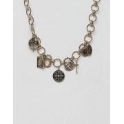 ASOS DESIGN Золотистое броское ожерелье с подвесками в винтажном стиле ASOS DESIGN