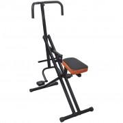 vidaXL Сгъваем уред за упражнения тип конна езда, черен/оранжев