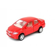 Centy Honda City Car Miniature Pull Back Toy (Door Openable) (Red)