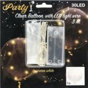 30 LEDes világító lufi melegfehér M15000060