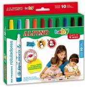 Carioca lavabila, 10 culori/set, ALPINO Baby