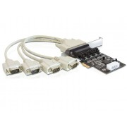 DeLock PCI Express Card > 4x Serial with voltage supply 89306