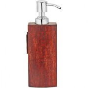 Liquid Soap Dispenser Wood (Square)
