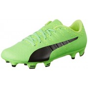 Puma Men's Evopower Vigor 3 Fg Green Gecko, Puma Black and Safety Yellow Football Boots - 7 UK/India (40.5 EU) (10395601)