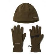 Columbia Fast Trek Juego de gorro y guantes, forro polar suave, Olive Green, Medium