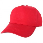 Tahiro Plain Red Cotton Casual Cap - Pack Of 1