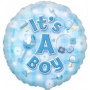 Balon folie bleu IT'S A BOY