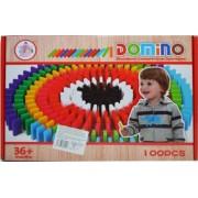 Domino Din Lemn Colorat - 100 Piese/Cutie