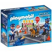 Control De Policia Playmobil Con Perro Y Accesorios - 6924