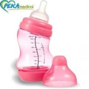 DIFRAX Butelka S antykolkowa szeroka 200 ml (fuksja)