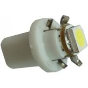 Autós led B8.5 műszerfal világítás,1 led, 23 Lumen, 1W, hideg fehér. Life Light Led 2 év garancia!