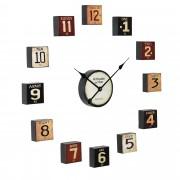 [en.casa]® Fali óra többrészes modern 68 x 4 x 68 cm színes