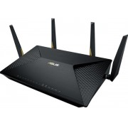 Router Wireless ASUS BRT-AC828, Gigabit, Dual Band, 2600 Mbps, 4 Anetene externe (Negru)