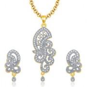Sukkhi Astonishing Gold And Rhodium Plated CZ Pendant Set For Women