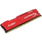 Memorija Kingston 8 GB HyperX Fury Red 2666MHz DDR4 CL16, HX426C16FR2/8