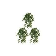 Shoppartners 3x Groene/witte Hedera Helix/klimop kunstplant 65 cm voor buiten