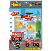 Hama Strijkkralen Hama Brandweer 2000 Delig