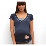 Shirt korte mouw Joy blauw Cache Coeur - L