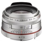 Obiectiv Foto Pentax HD DA 15mm F/4 ED AL Limited Silver