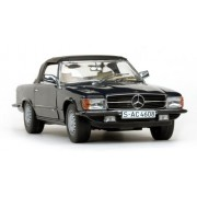 Sunstar 1/18 Scale 4608 Mercedes Benz 350 Sl Closed Convertible Dark Blue