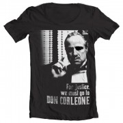 Godfather - For Justice Wide Neck Tee
