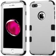 Funda Case Para IPhone 7 Plus / IPhone 8 Plus Protector Dobre De Uso Rudo-Gris Con Negro
