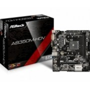 Tarjeta Madre ASRock micro ATX AB350M-HDV, S-AM4, AMD B350, HDMI, USB 3.0, 32GB DDR4, para AMD