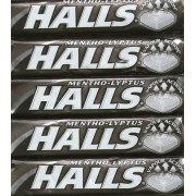Halls Extra Strong Mentho-Lyptus Sweets Packets BB4 23/10/17