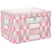 DEVZA Cloth Storage bag Living Box, Large Capacity Clothes Storage Bag, Wardrobe Organizer, 55L , Pink Cloth Storage(Multicolor)