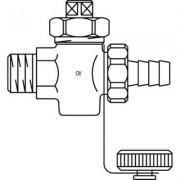 Oventrop Vul aftapkraan 3/4 DN20 PN16 brons buitendraad 1032006