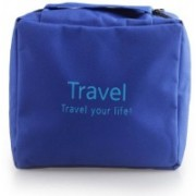 LS Letsshop Cosmetic Make Up Toiletries Travel Hanging Bag Organizer Travel Your Life(Blue)