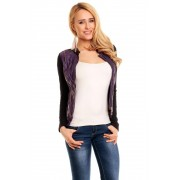 Lehká dámská bunda Idees fialovo-černá