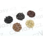 Kroužky micro ring - 100 ks Barva: černá