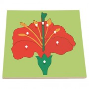 Panel puzzle early childhood educational toys, flower panels
