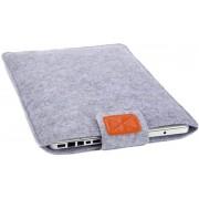 CoshX® stevige laptop hoes van grijs vilt maat 15 inch Macbook hoes 15 inch Laptop case Bescherming van uw laptop