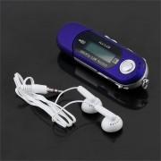 ER Plug-in De Grabación USB MP3 Azul Del Jugador-azul.