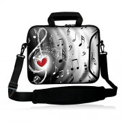 """iColor 15"""" Laptop Shoulder Bag 14.1"""" 14.2"""" 15.6"""" Inch Neoprene Laptop Messenger Bag 15.4"""" Notebook Computer Dual Zipper Case Cover Pouch Holder Pocket"""