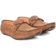 Alberto Calza Valvet Tie Loafers For Men(Brown)